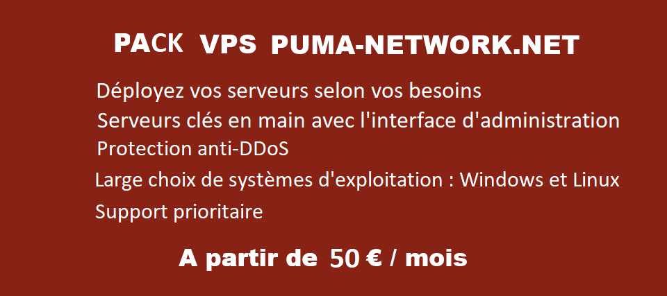 Pack VPS par Puma-Network.net